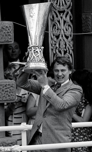 Euro star: Sir Bobby toasts Ipswich's UEFA Cup triumph in 1981