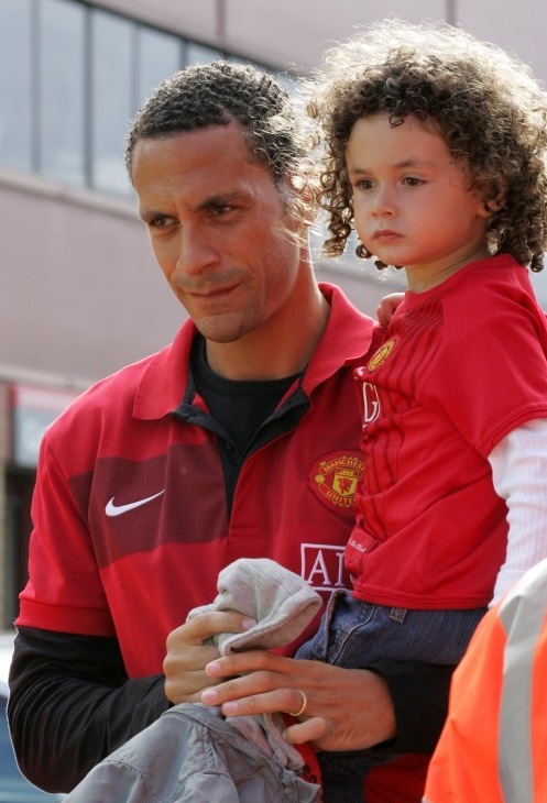 Rio Ferdinand and his son